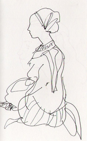 seated figure- page from sketchbook