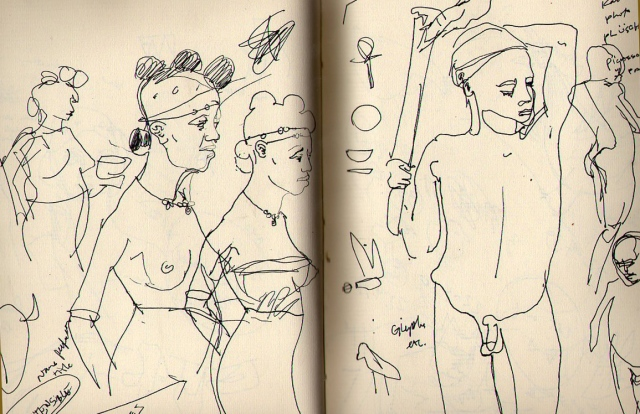after Picasso's photos- from sketchbook