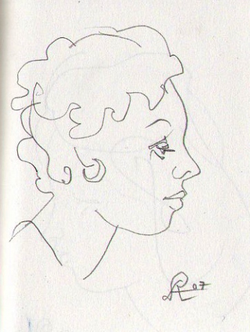 profile of a woman (1) -page from sketchbook