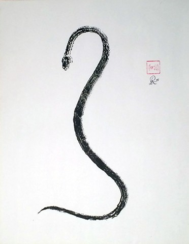 Drawing of a snake by Rodney Artiles 2015
