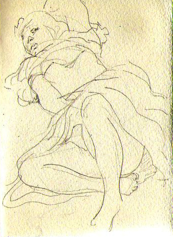 reclining figure-page from sketchbook