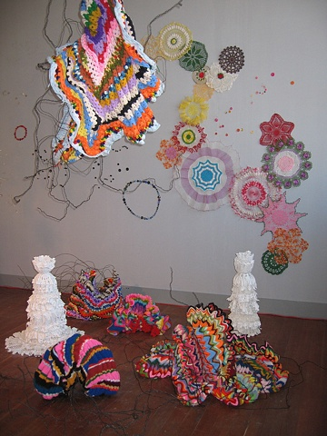 Crochetlandia-Studio Installation