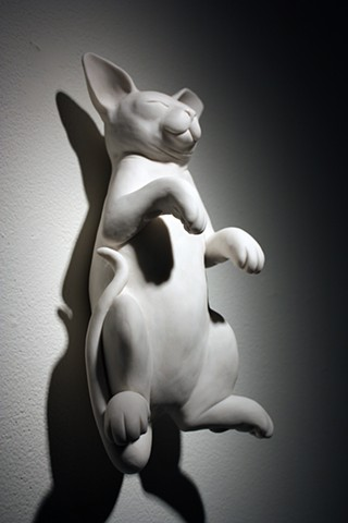 porcelain sleeping kitten sculpture by Bethany Krull