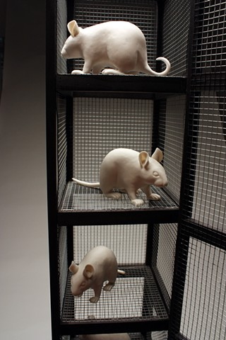 Space Saving Gerbil Tower (detail)