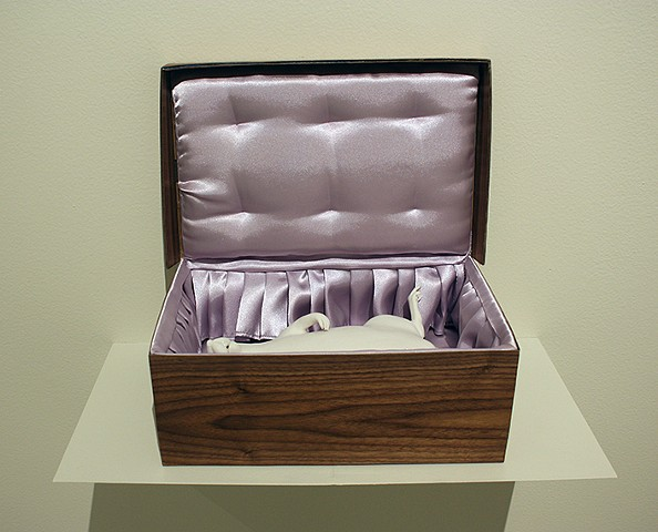 dead rat in a shoebox sculpture by Bethany Krull
