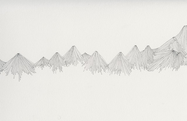 meticulous mountain drawing