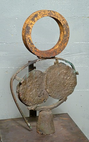 """ invention  zero"" bronze and steel 2014"
