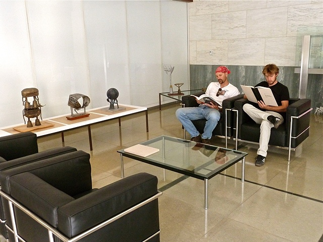 viewers in  Mies chairs