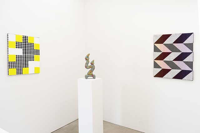 Installation view with Bayne Peterson