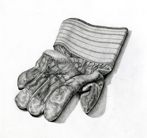 Drawing of my Father's work glove