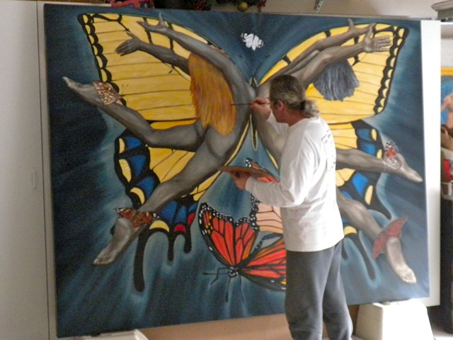 Photo Still.....Painting The Butterfly Nebula