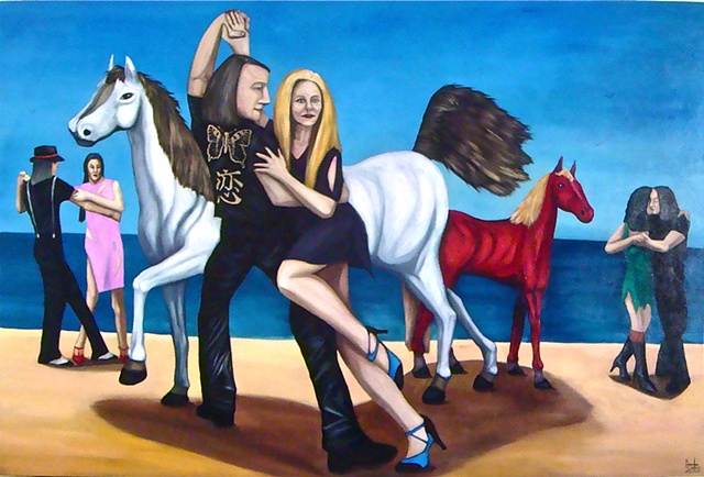 TANGO DANCE HORSES, FIGURES IN SPACE, SEASCAPES