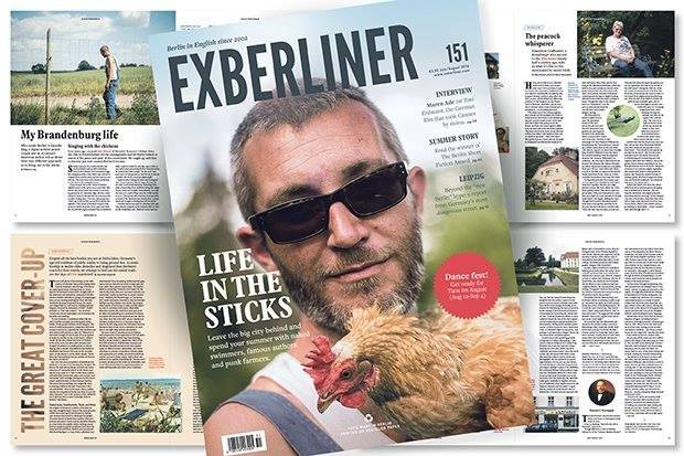 Ron Rineck on the Cover of Exberliner Magazine