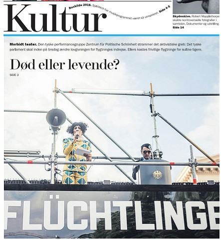 Cover of the Culture section of Weekend avisen