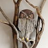 Driftwood Owl Wall Sculpture