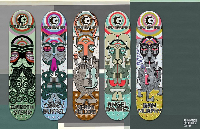 FOUNDATION SKATEBOARD ART
