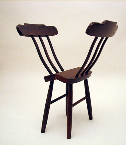 vintage wood chairs, altered, found, assemblage, contemporary sculpture, Identity, diaspora, displacement
