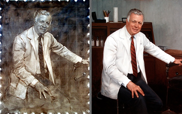 Richard M. Robb, MD  Underpainting and Finished Portrait