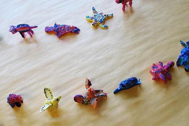 Installation view of Oaxacan Animals by Class One