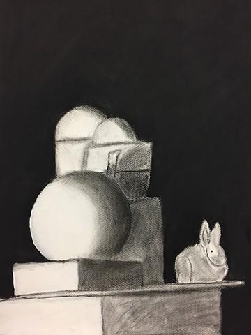 Still Life with Bunny Intro to the Studio Arts Upper School Newman Freshman Myles K.
