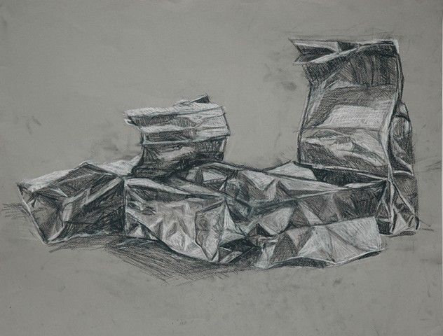 Paper Bags #2 Drawing I College Level