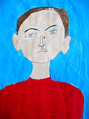 Portrait in the style of Modigliani #3 by Class Two