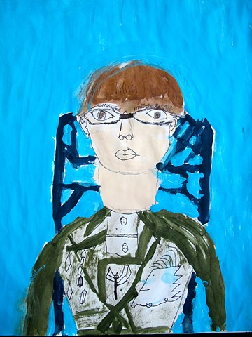 Portrait in the style of Modigliani #2 by Class Two