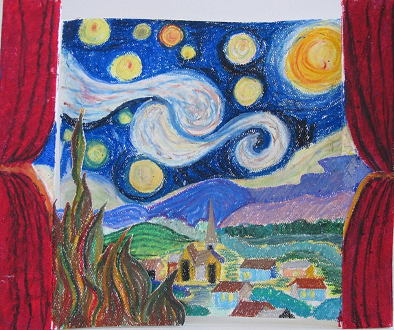 Tunnel Book after Van Gogh Class Six