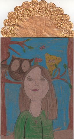 Self portrait in the style of Frida Kahlo #2 by Class Three