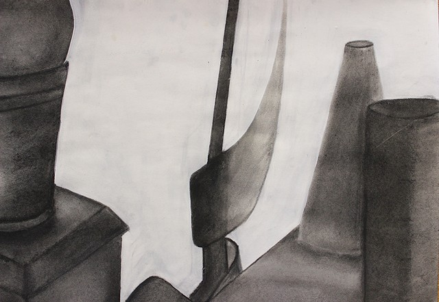 Detail of Eriel's still life Intro to the Studio Arts | Upper School  Newman Freshman