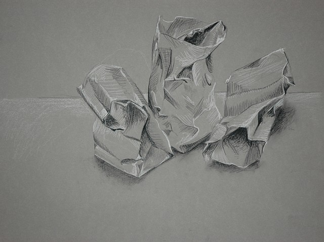 Paper Bags Drawing I College Level