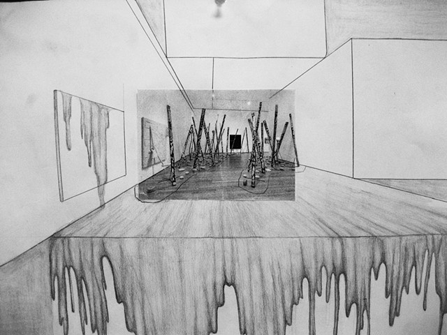 One Point Perspective Collage into Drawing Upper School Freshman