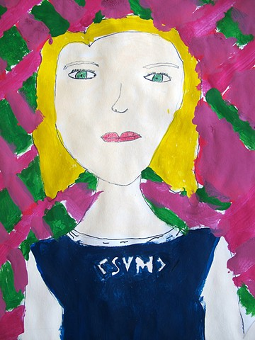 Portrait in the style of Modigliani #4 by Class Two