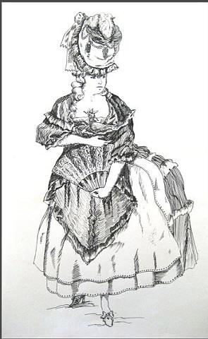 Ink Drawing from Sketchbook 2-D Design College level
