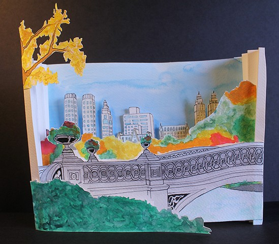 New York Tunnel Book Intro to the Studio Arts | Upper School Newman Sophomore Kara T.