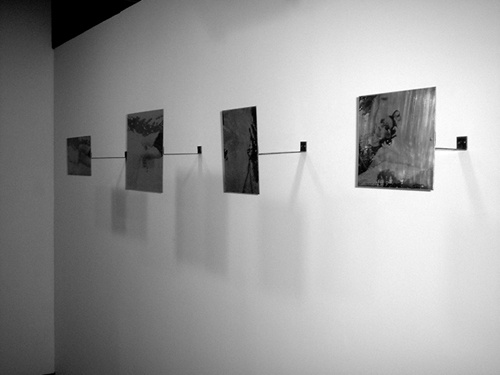 Installation view of 'Push, Sometimes Float'