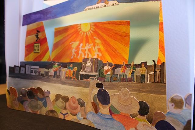 Jazz Fest Tunnel Book Intro to the Studio Arts | Upper School Newman Junior  Daphne M.