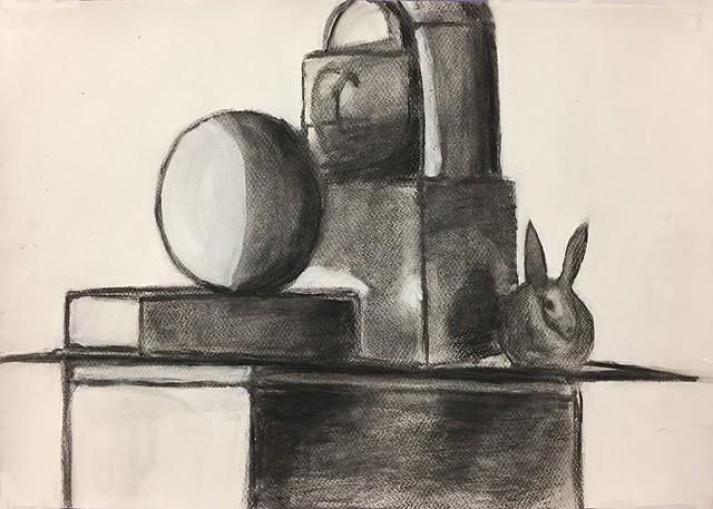 Still Life with Bunny Intro to the Studio Arts Upper School Newman Freshman Olivia P.