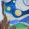 Tunnel book after Van Gogh (detail) Class Six