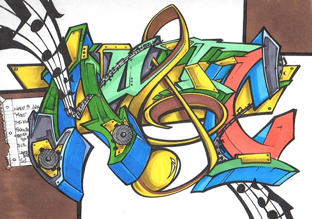 Music Colored Marker