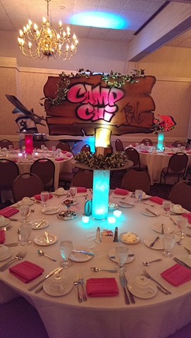 Camp Sign Centerpiece