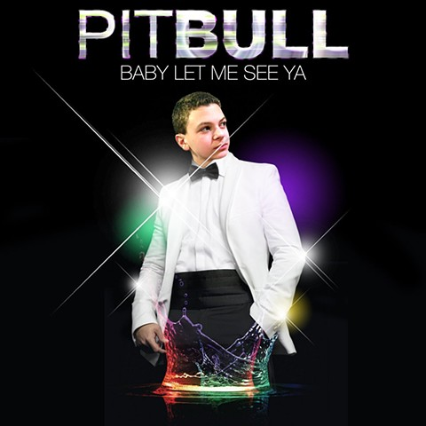 Face photoshopped on Pitbull