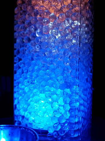 Gel Beads and LEDs