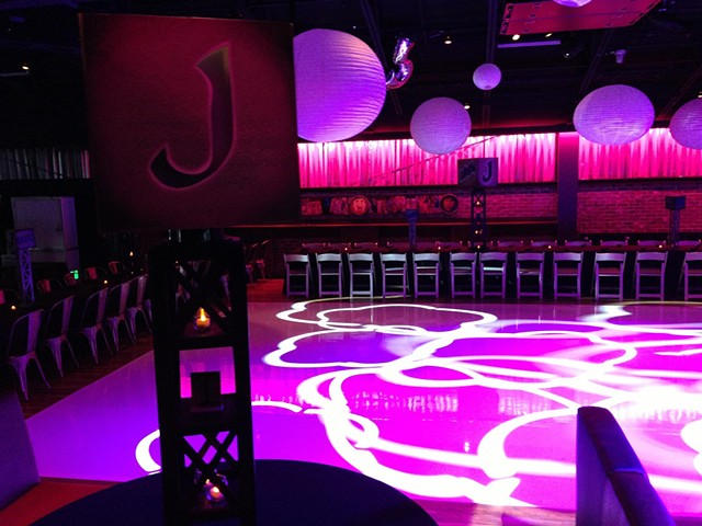 J-Bash Centerpiece and Dance Floor