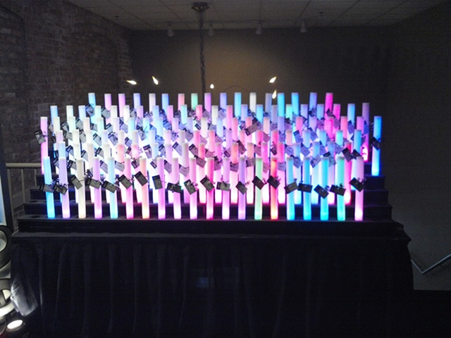 Place Card Table - Light Sticks (Lumitrons)