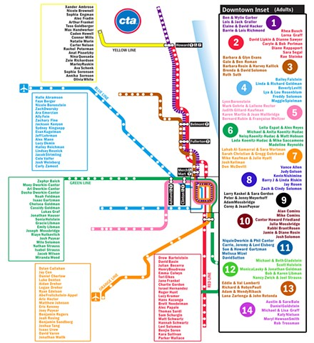 CTA Seating Chart