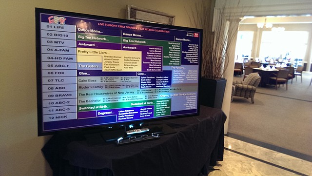 TV Menu Seating Chart