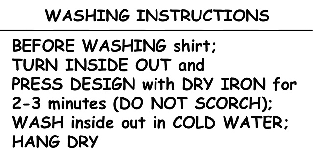 WASHING INSTRUCTIONS