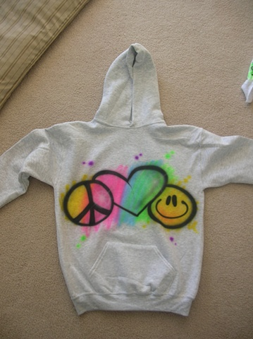 Peace, Love, Happiness Hooded Sweatshirt