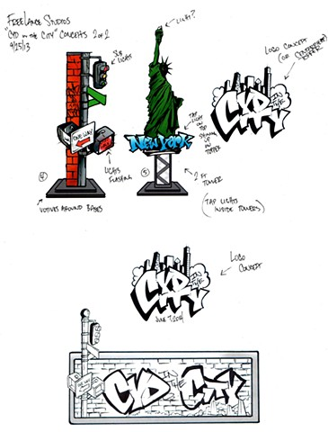 Graffiti Original Sketches